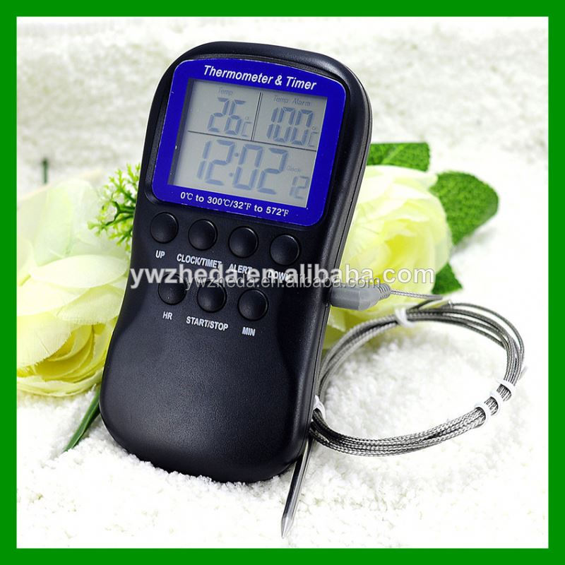 Chicken beef lamb veal turkey pork digital bbq fork thermometer