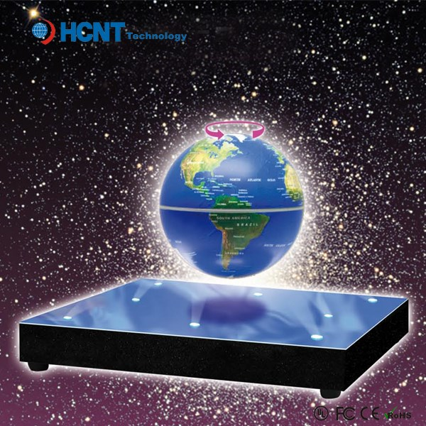 Hot sale magnetic levitating globe picture insert snow globe