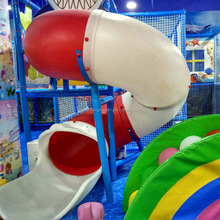 Children indoor playground big spiral tube slide for sale