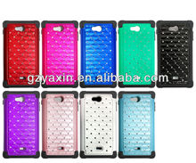2014 wholesale fashion rhinestone phone case for lg ms870