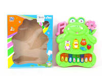 Kids animal piano toys Frog musical organ toy 8 keys plastic electronic piano