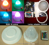 2015 New led rgb battery rechargeable light