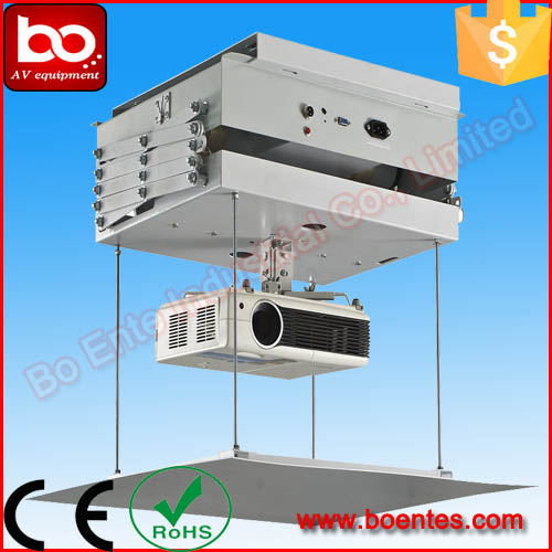 200cm motorized retractable projector ceiling mount with for Motorized retractable projector screen