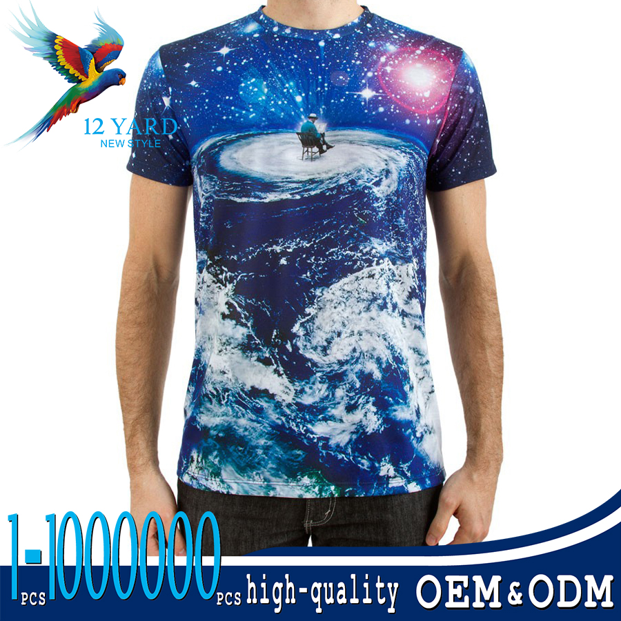 Trendy style wholesale Custom printed design Sports anti-Pilling fashion custom t shirt for men