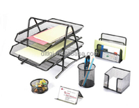 B8805S604T 6pcs metal mesh office stationery set