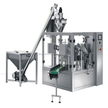 Foshan factory sales 8 station automatic fried chicken powder VFFS filling and packing bagging machine with CE