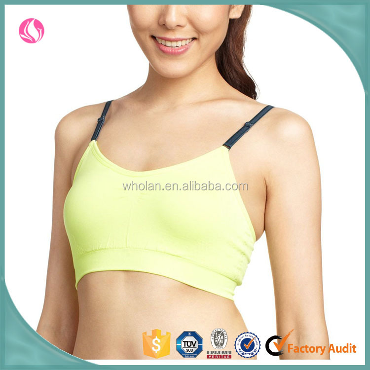 2015 ladies sport top bra, wholesale newest design women bra, your own brand underwear