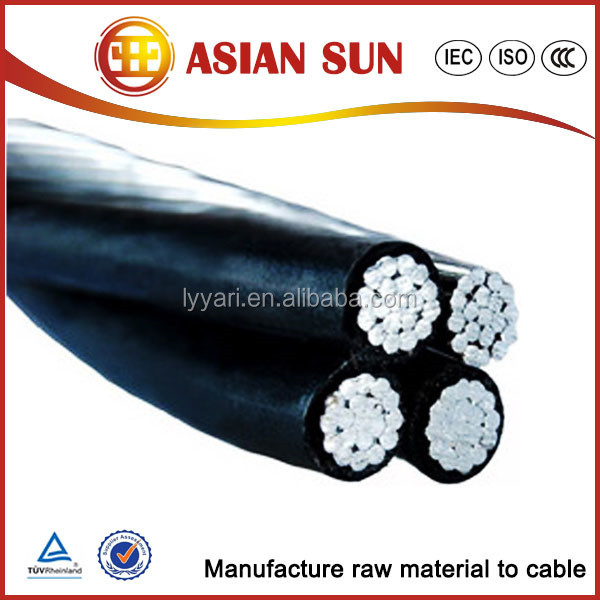 XLPE/PE/PVC Insulated Aerial Bundled Cable abc distributers
