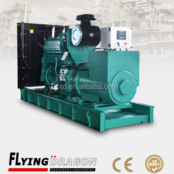 400kw open frame electric diesel dynamo generator set powered by cummins 500kva diesel engine with high quality low price