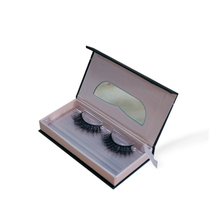 private label rectangle strong cardboard box make up box custom eyelash packaging
