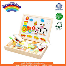 Factory directly wholesale wooden magnetic puzzle toys