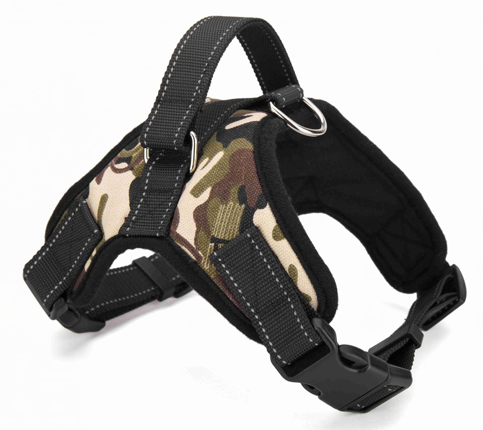 Wholesale small large for dog harness metal buckle dog pet harness