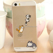 New TPU lively naughty cat soft silicon back case cover for iphone 5 5s