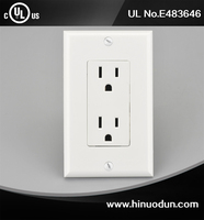15 Amp 120Volt UL CUL Certificate wall outlet dimensions