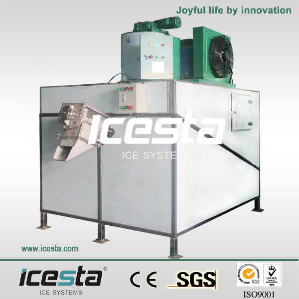 ICESTA CE 3T ice makers with screw fitted bin