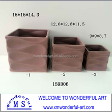 new square ceramic elegant flower pot for home decor