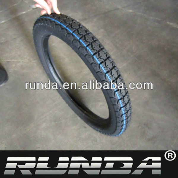 high quality tube and tubeless motorcycle tire2.75-17