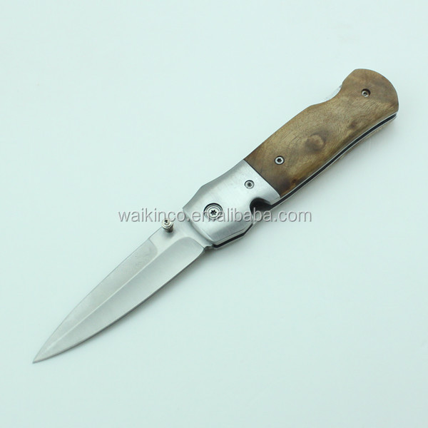 High Quality Wood Handle Pocket Knife