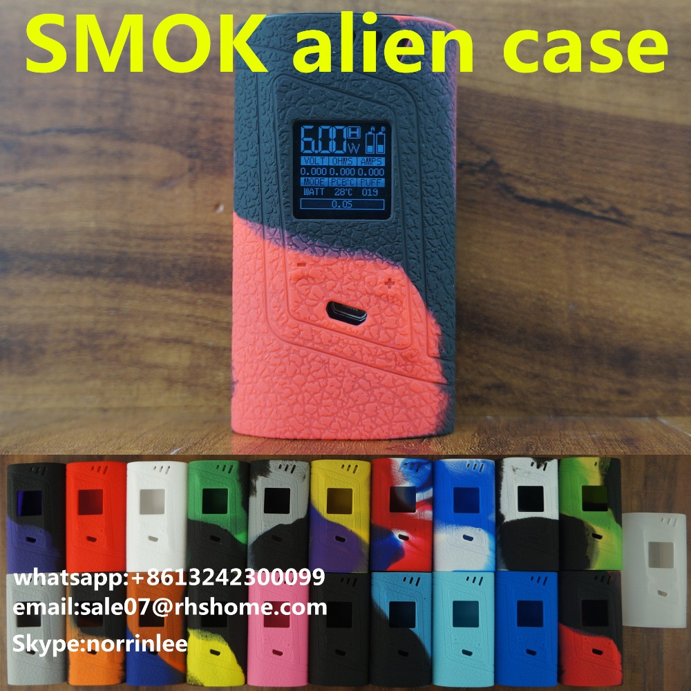 100% Original SMOK Alien Kit 220w Alien Mod & TFV8 Baby e cigarette made in RHS leather case smok alien kit smok alien mod