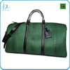 High quality men genuine python leather travel bag ,leather duffle Bag