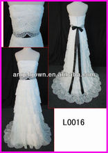 A line bridal gown layers lace wedding dress guanzhou design wholesale price