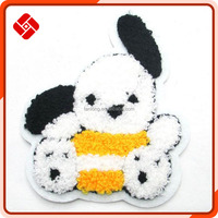 cartoon design towel padded embroidery patch applique