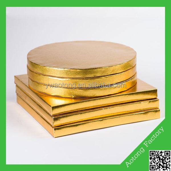 Gold Square Cake Drum