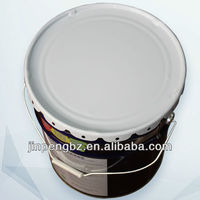 printed painting round clear paint bucket