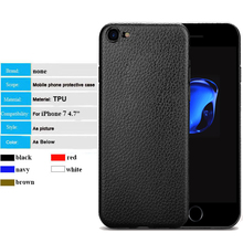 china dropship company leather grain skin soft TPU back cover cell phone case for iphone 6 7 plus