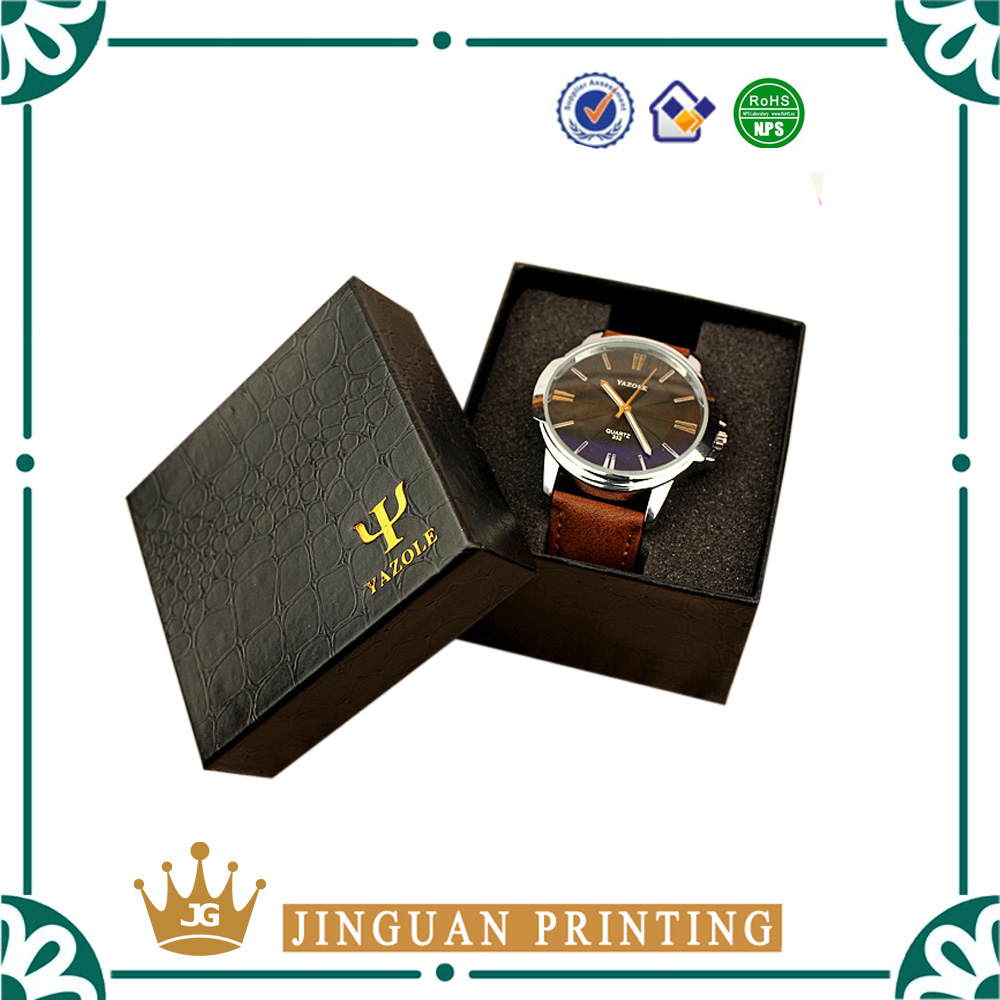 Wholesale custom printing your own brand elegant high quality PU leather watch boxes