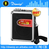 rechargeable portable speaker support usb flash drive fm radio