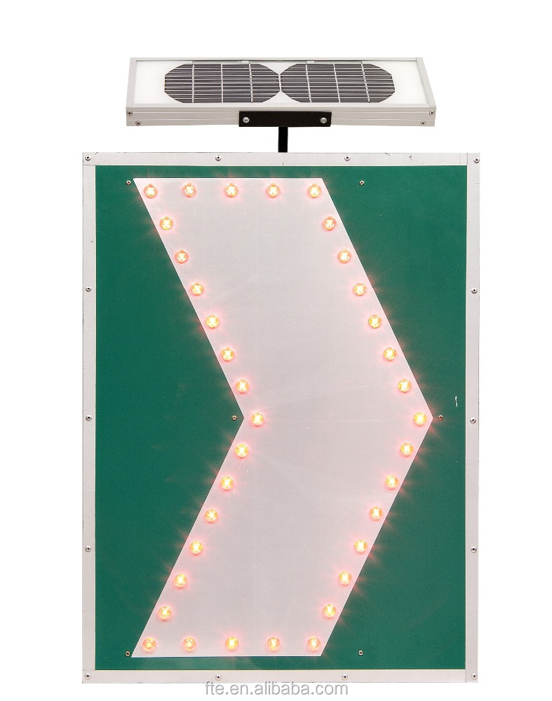 Solar aluminum direction sign board with reflective film