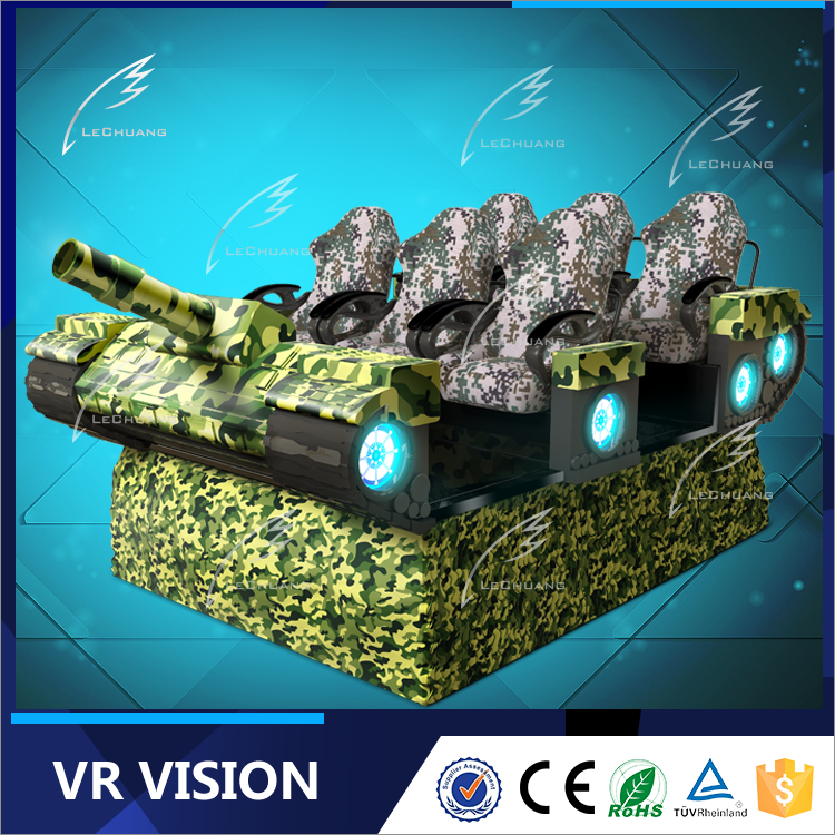 Dynamic 9d virtual reality tank vr cinema with special effects horror/cartoon/racing movies for indoor/outdoor Christmas