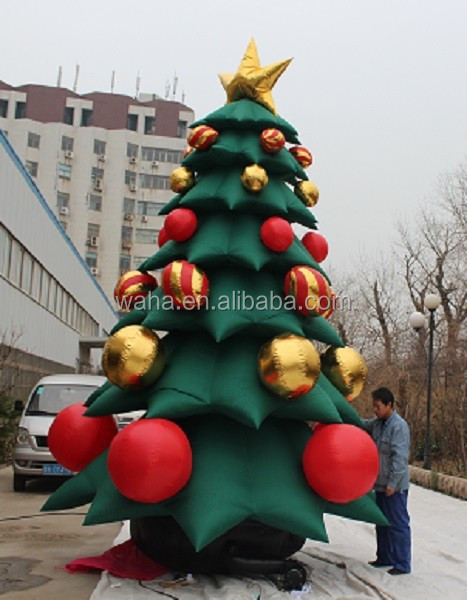 W281 customize Christmas inflatable Xmas tree with gift box for party decor/5m/16ft TALL