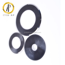 Tungsten carbide round cutter with thin cutting edge for paper cutting
