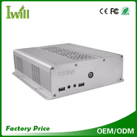 aluminum alloy industrial embedded mini pc case with fan