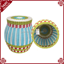 Home goods furnitre wholesale indian style round PE rattan ottoman