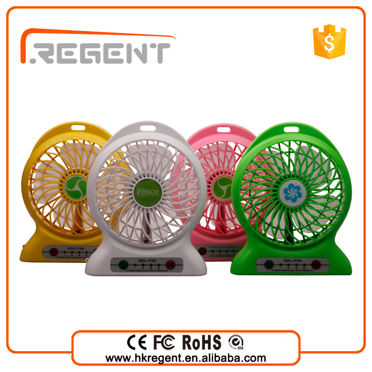 New 2016 Product idea Usb Table Rechargeable Mini Fan with Led Lights