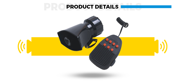 Reliable Quality Media speaker horn for Motorcycle Police Siren Exported to Worldwide
