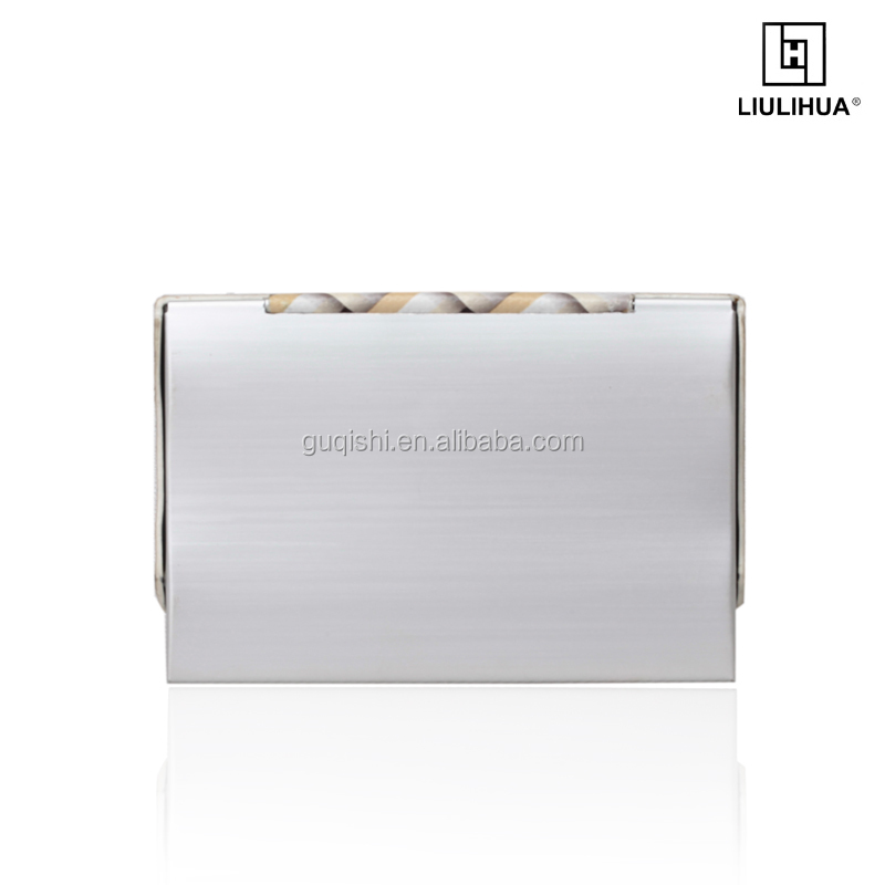 Fashion metal name card holder small High end simple aluminum business card holder