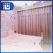 Fashionable standard size fancy living room grommet curtains and valances