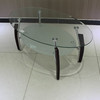 Glass Metal Coffee Tea Table 1