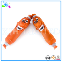 Vinyl Sausage Shaped Squeaky Pet Dog Toy