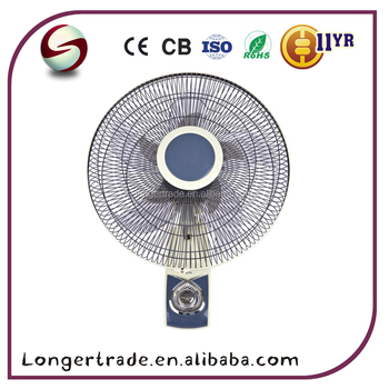 China made 220V 55W electric Wall fan with plastic blade