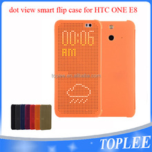 Ultra Slim Dot View Flip Smart Multi-Function Case Cover for HTC One E8