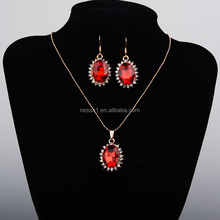 New Design Crystal Red Necklace Set LYU-0082