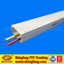 Interior Decoration Electrical PVC Plastic Wire Square Channel/Trunking for Protecting Cable