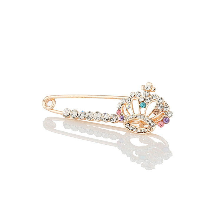 WAYZI brand china wholesale custom flower crysta women brooch pin rhinestones brooch korean channel brooch