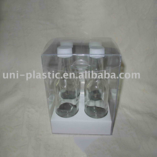 Factory offer customized transparent clear plastic box with soft crease