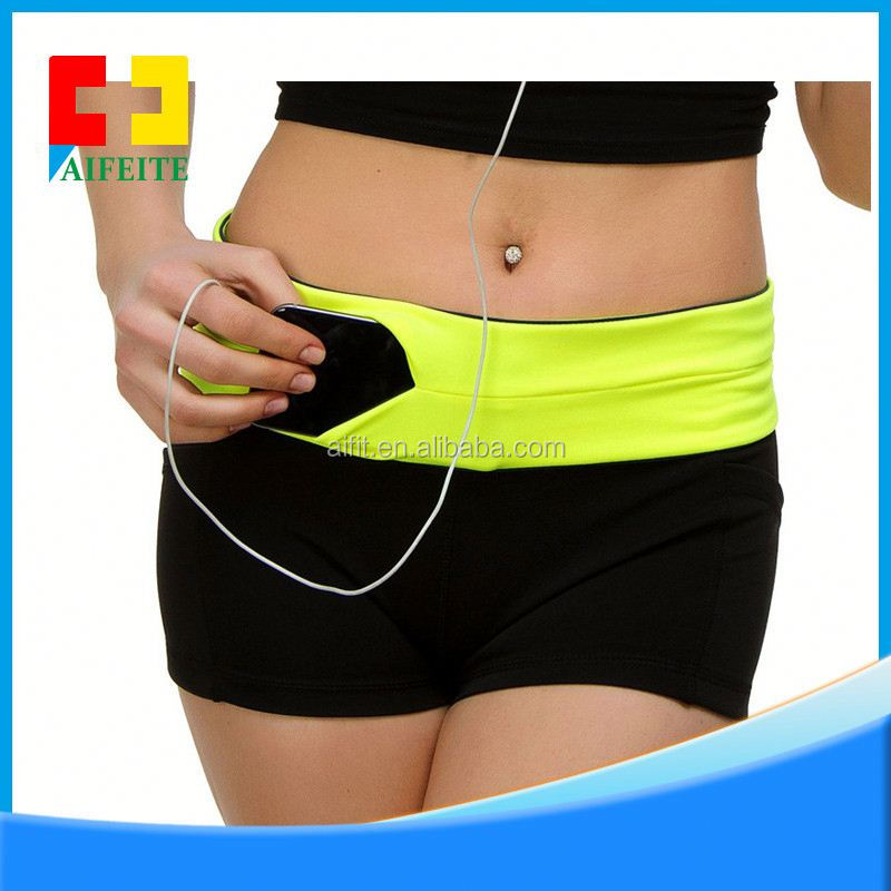 Custom Imprint Promotion Neoprene Running Belts Workout Fitness Outdoor Pouch Sports Waist Bags Pack